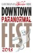 A promotional image for Louisiana's Weirder Side: Downtown Paranormal Festival