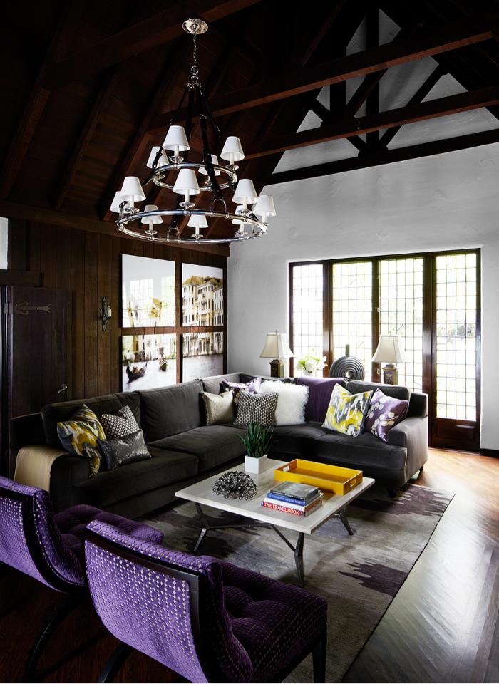 Kristina wolf design puts modern spin on cozy tudor in - Tudor style house interior ...