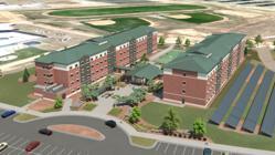 Rendering of proposed barracks design