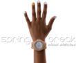 Spring break Wood Watch on Female Hands