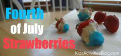 Fourth of July strawberries
