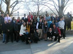 Plainfield High School Students in front of the White House