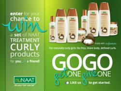 nuNAAT's June 2013 GOGO Giveaway featuring NAAT Treatment Curly products