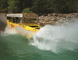 The new Bass Lake Duck Tours take guests on tours on and around Bass Lake via an amphibious vehicle. The tours showcase the regions scenic beaty, diverse animal and plantlife and many attractions around the popular resort destination located just outside