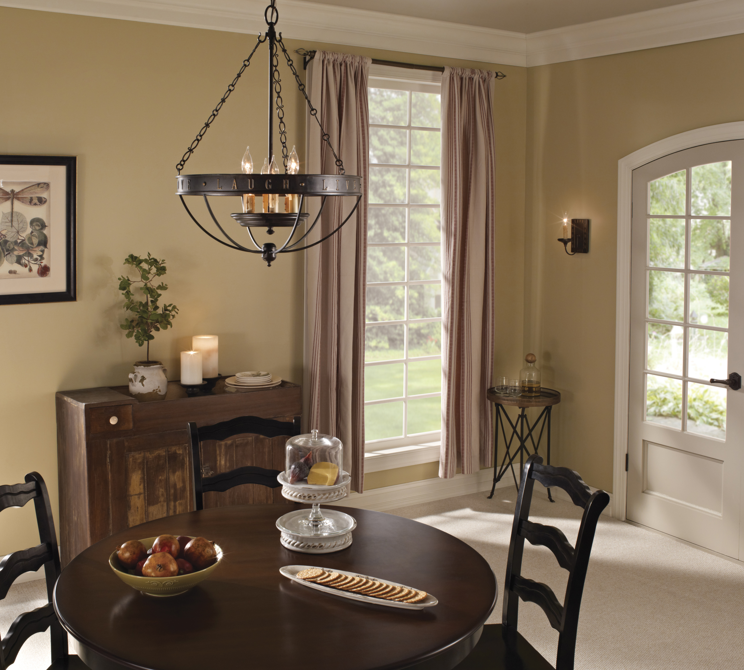 shown here is the sixlight chandelier from the new live love laugh collection by feiss - Feiss Lighting