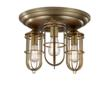 The new Feiss Urban Renewal three-light flush mount