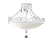 The new two-light Chateau Blanc semi-flush mount by Feiss