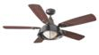 The new Morton fan by Monte Carlo, shown here in the Oil Rubbed Bronze finish with Mahogony Blush-finished blades