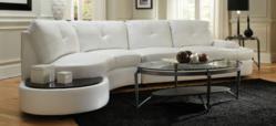 Coaster Furniture Talia Sectional Sofa in White
