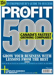 PROFIT 500 list of Canada's Fastest-Growing Companies