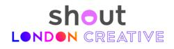 London Creative and Shout Visa Logo