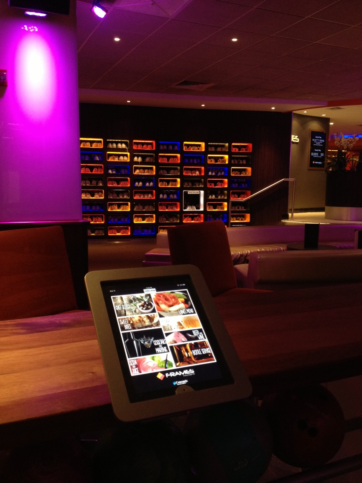 frames bowling lounge rolls out paperless interactive ipad