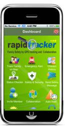 Screen Shot of Rapid Tracker App