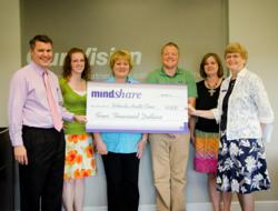Mentoring Minds Awards MindSHARE Check to Bethesda Health Clinic