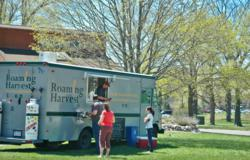 The Roaming Harvest truck at one of its regular Traverse City lunch stops.