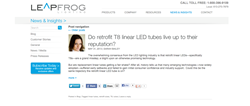Home page of News and Insights from Leapfrog Lighting