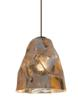 LBL Lighting's new Zuri pendant has an intricately crinkled metal appearance which gives it a never-before-seen twist
