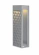 LBL Lighting's new Zari 18 outdoor fixture with LED lighting has a curved pattern inspired by New York City subways