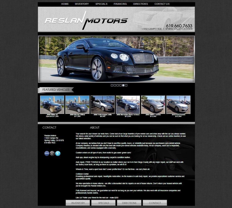 Reslan motors a spring valley california auto dealership for Law motors sioux falls