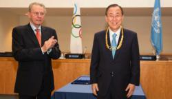 UN Secretary-General Ban Ki-moon Receives Olympic Order