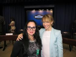 Ruth Hedges and Huffington Post Contributing Writer Victoria Silchenko, PhD