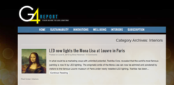 G4 Report features page Mona Lisa LED case study