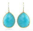 teardrop earrings turquoise