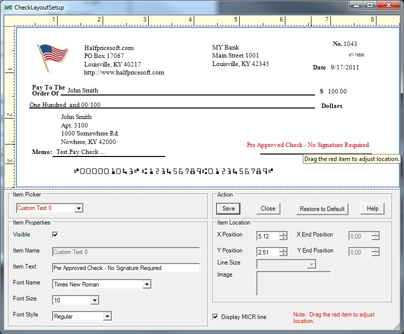 Ezcheckprinting Business Check Writer Supports Different