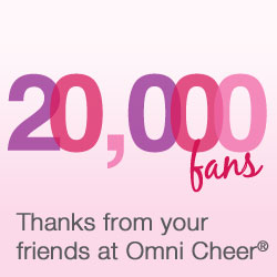 Omni Cheer celebrates 20,000 Facebook fan milestone