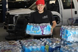 Linear Automotive donates water to Oklahoma tornado victims