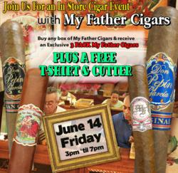 My Father Cigars Event June 14 at Mike's Cigars