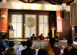 The Church of Scientology Padova released a new publication, Scientology: How We Help—United for Human Rights, Making Human Rights a Global Reality, at a conference May 25, 2013, held in honor of the Venerable Tenzin Bagdro, a Tibetan monk and champion of