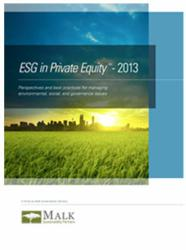 ESG in Private Equity - 2013