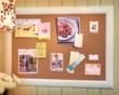 corkboard, cork board, framed cork board