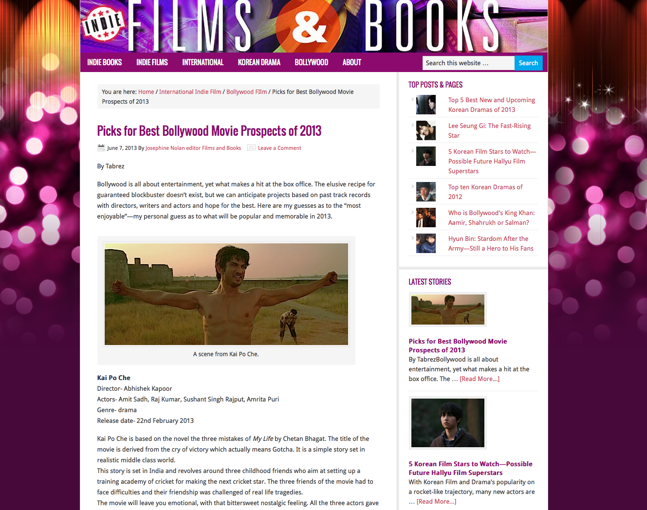 Indie Films And Books Magazine Reports Korea S Top Five Future