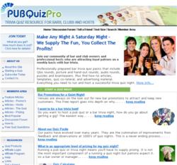 pubquizpro.com website