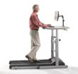 Walking and working on a LifeSpan Treadmill Desk
