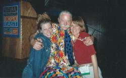 Monique and Karina with Patch Adams in 2005