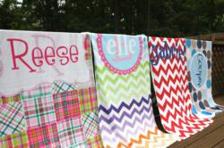 fully customizable, premium beach towels