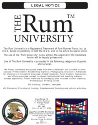 The Rum University is a Registered Trademark