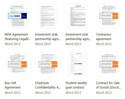 A handful of the hundreds of new Office 2013 templates automated by AutoTag