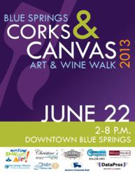 Foster Dental Care sponsors Corks and Canvas: Art and Wine walk in Blue Springs, MO