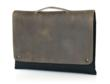 MacBook Air CitySlicker—front view, grizzly leather and handle option