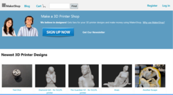 www.MakerShop.co Online 3D Printer Marketplace Screenshot