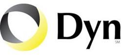 Black and yellow Dyn.com logo - internet performance solutions