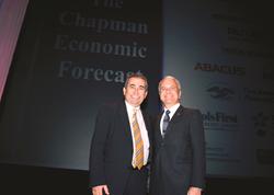 Esmael Adibi (left) and James L. Doti will present the Chapman University Economic Forecast Update on Thursday, June 19, 8:30 a.m. in Segerstrom Concert Hall, Costa Mesa, Calif.