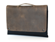 MacBook Pro Retina CitySlicker—front view, grizzly leather and handle option