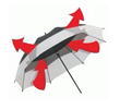 Wind proof lifeguard umbrella