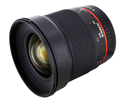 Rokinon 16mm f/2.0 Wide-Angle Lens for APS-C and Micro Four Thirds Cameras