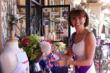 Jo Gemmll, owner of the English Tea Room gets the garden ready for the Royal Baby Shower.